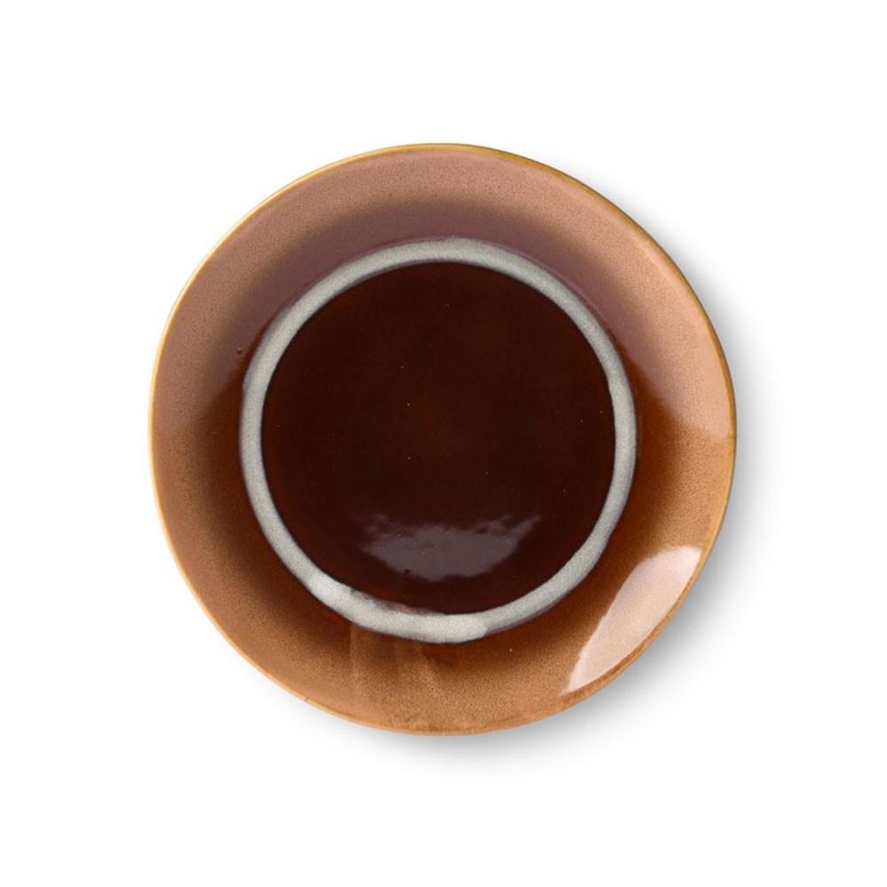 Ceramic 70's dessert plate tornado Ø17,5 cm (set of 6) HKliving
