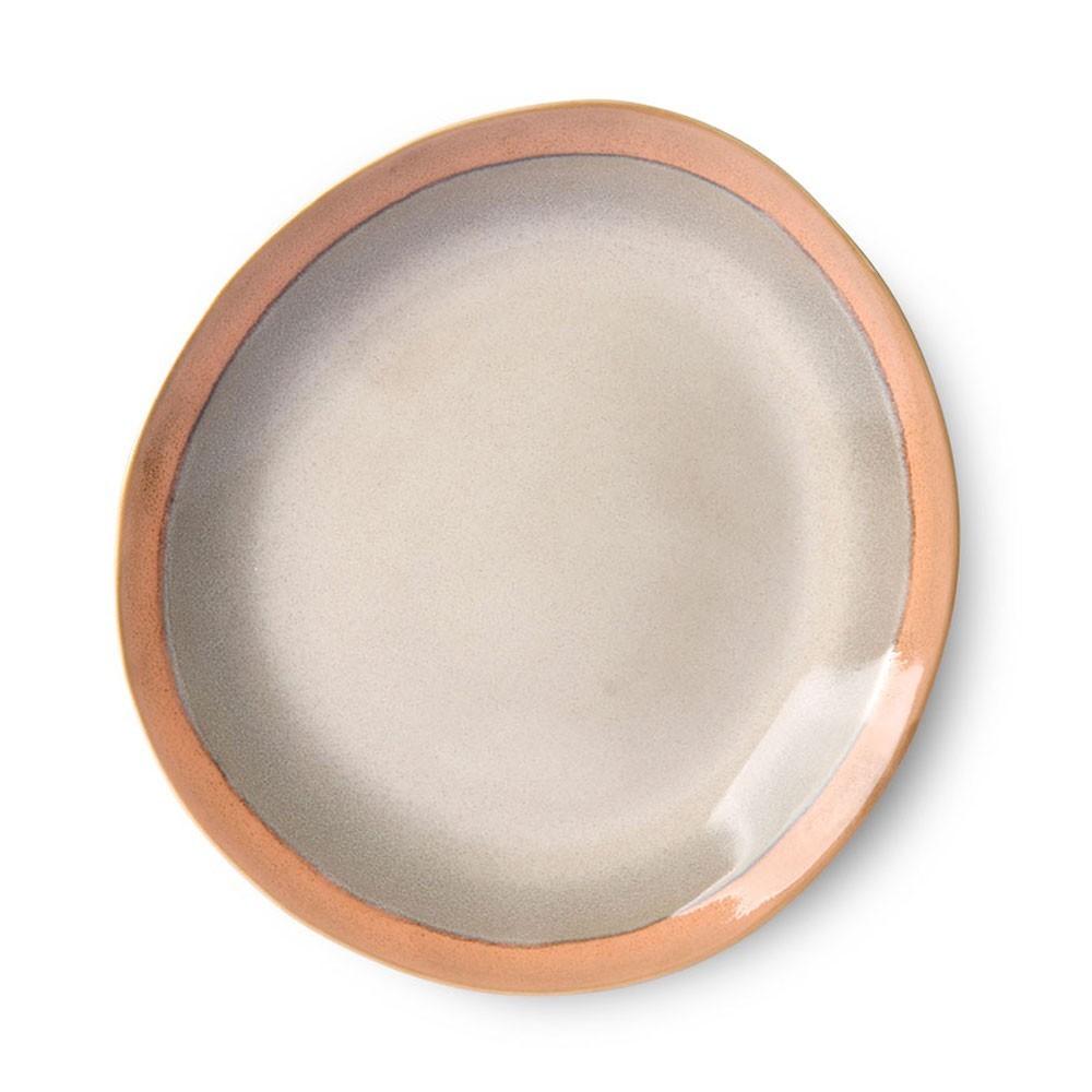 Ceramic 70's side plate earth Ø22 cm (set of 6) HKliving