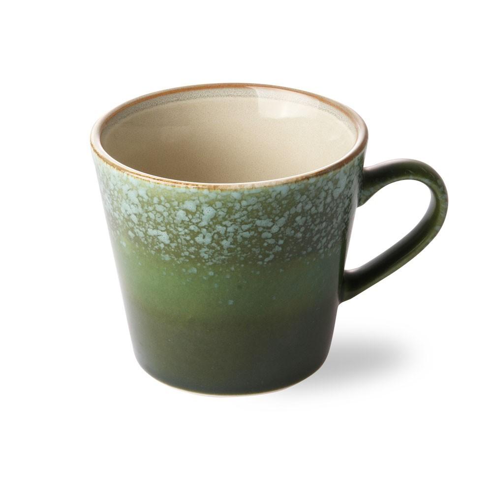 Ceramic 70's cappuccino mug grass HKliving
