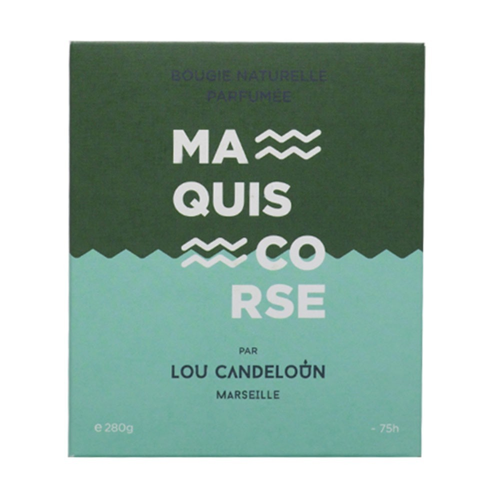 Scented candle 280g Maquis Corse Lou Candeloun