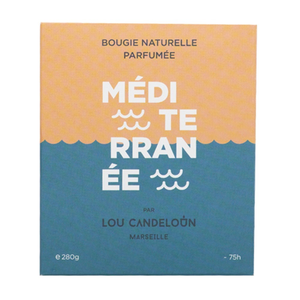 Scented candle 1000g Mediterranean Lou Candeloun