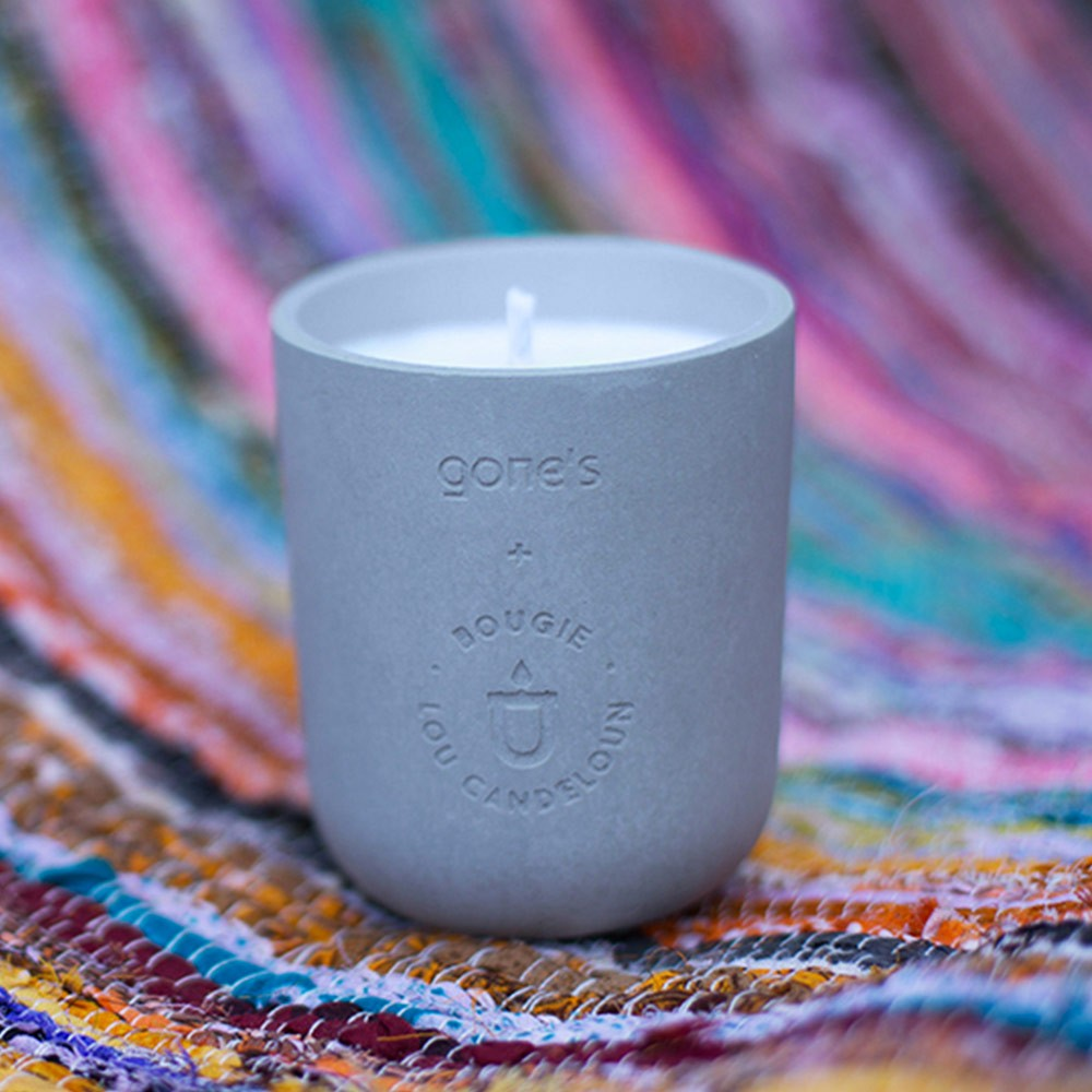 Scented concrete candle 220g Halong Lou Candeloun