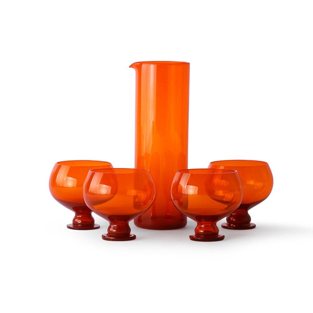 Funky orange glassware set HKliving