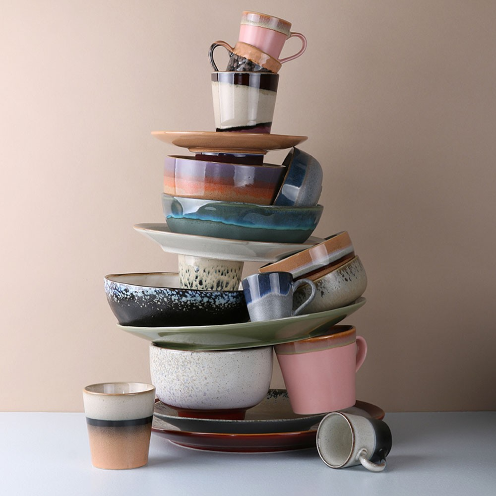 Ceramic 70's espresso mugs (set of 4) HKliving