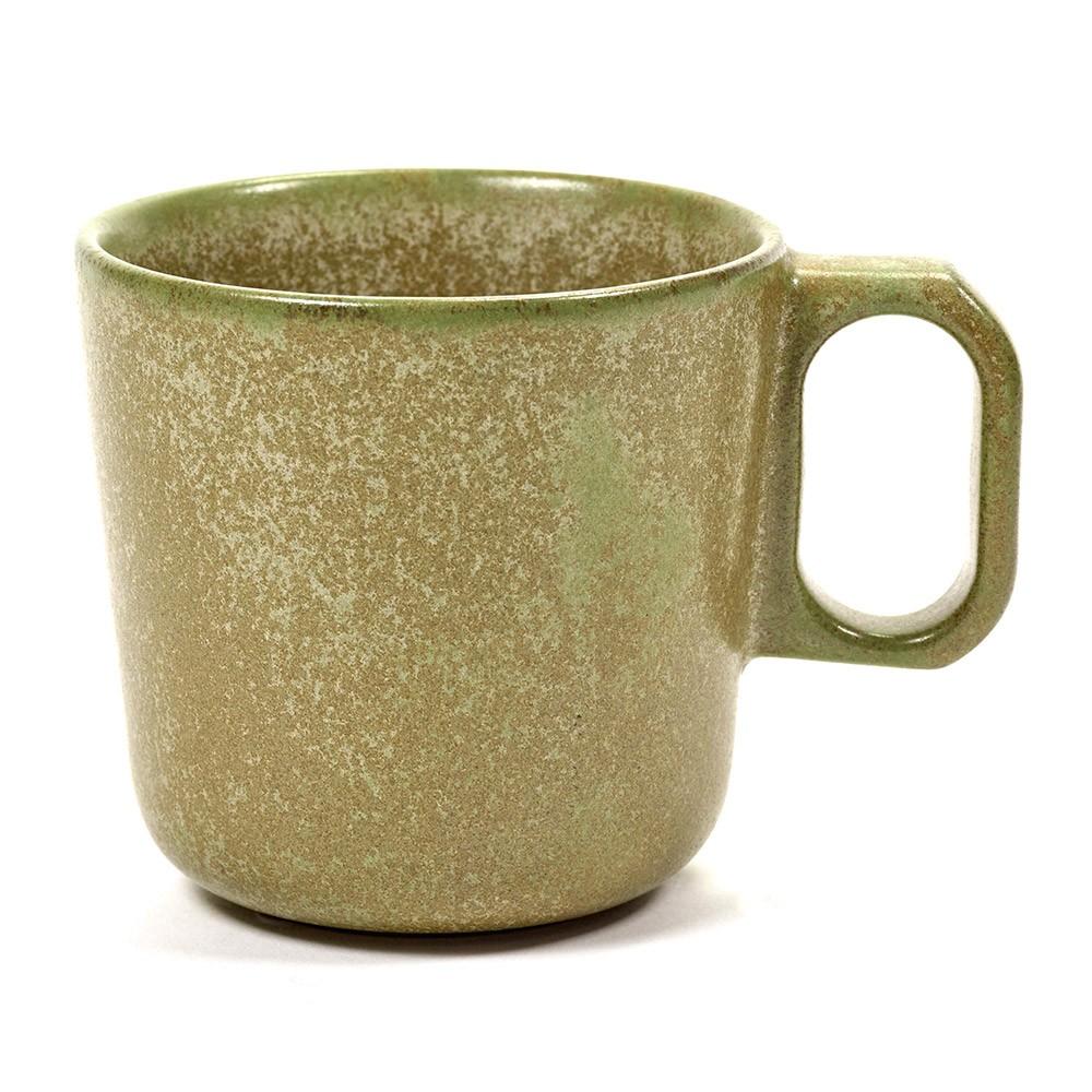 Surface mug with handle camogreen Ø9 cm Serax