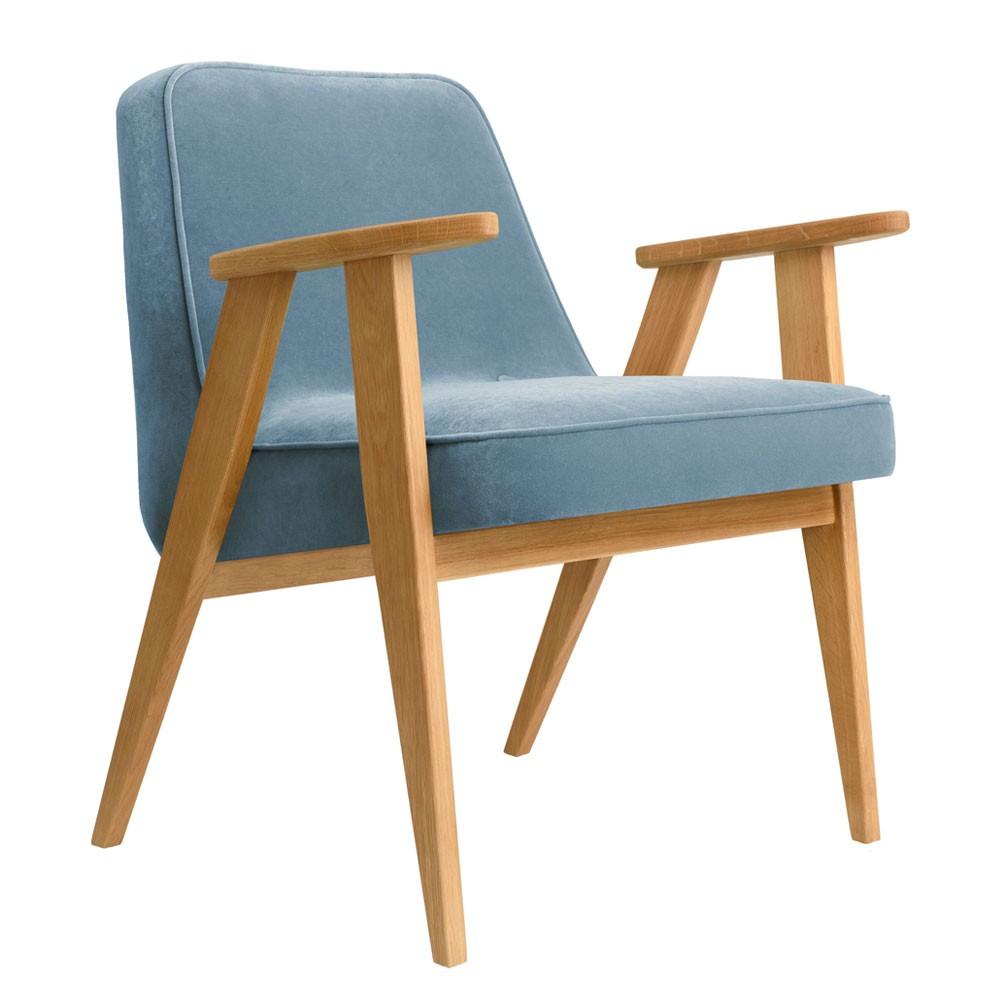 366 Velvet armchair sky blue 366 Concept