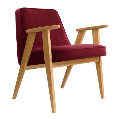 366 Velvet armchair merlot 366 Concept