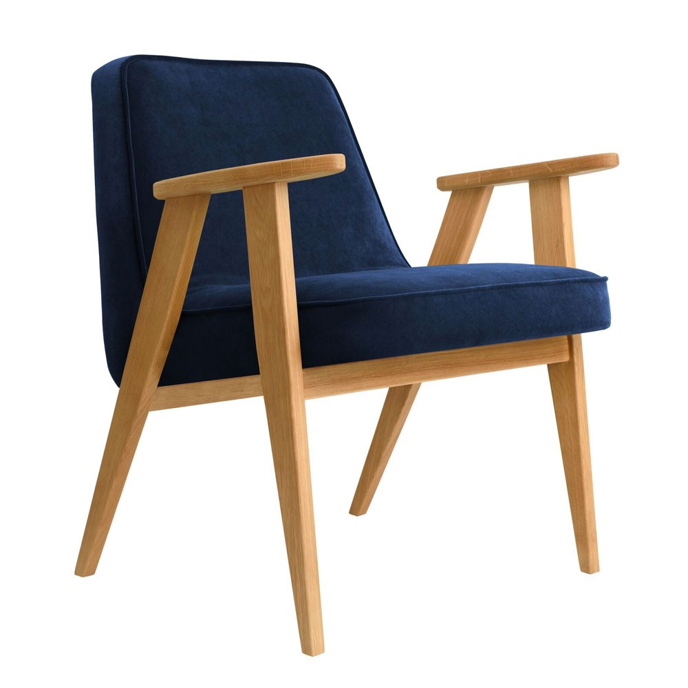 366 fauteuil Indigo fluweel 366 Concept