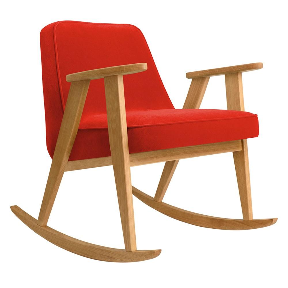 366 rocking chair Velvet chili pepper 366 Concept