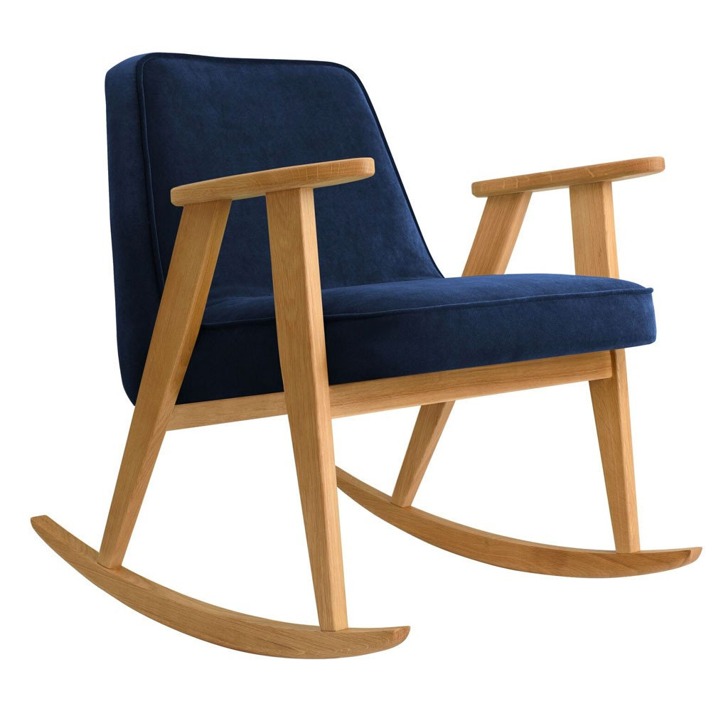 366 rocking chair Velvet indigo 366 Concept