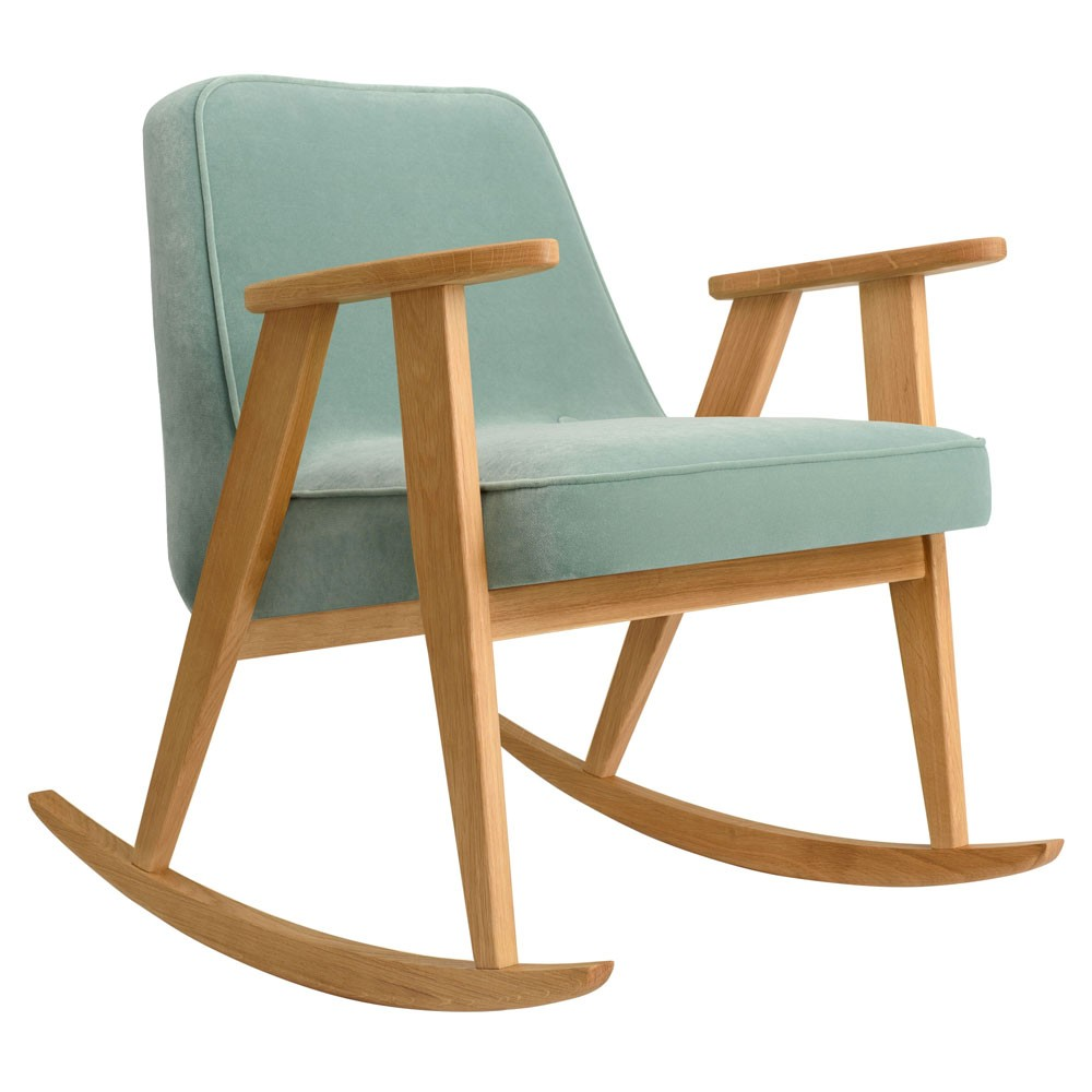 Rocking chair 366 Velours menthe 366 Concept