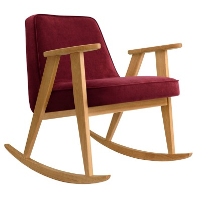 366 rocking chair Velvet merlot 366 Concept