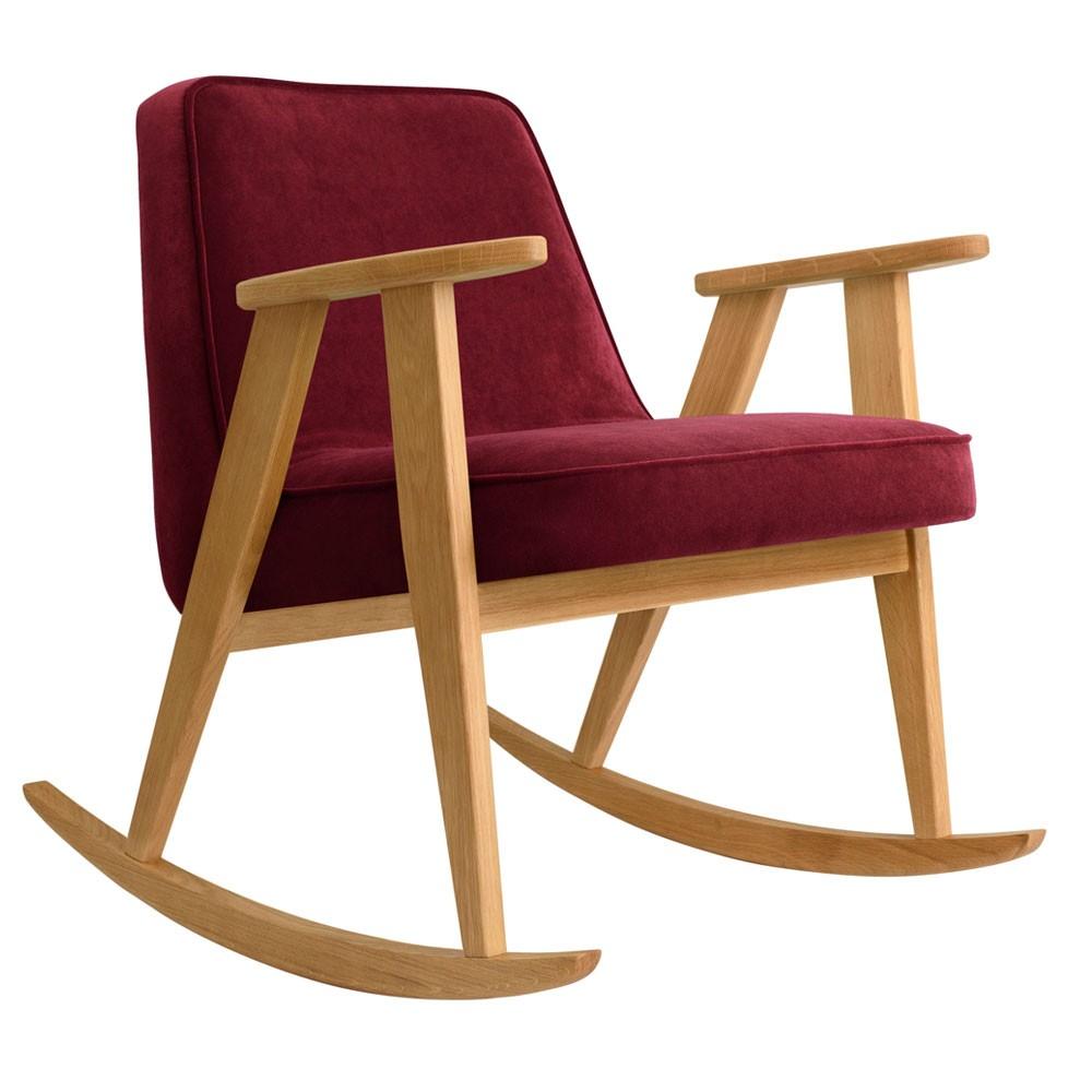 Rocking chair 366 Velours merlot 366 Concept