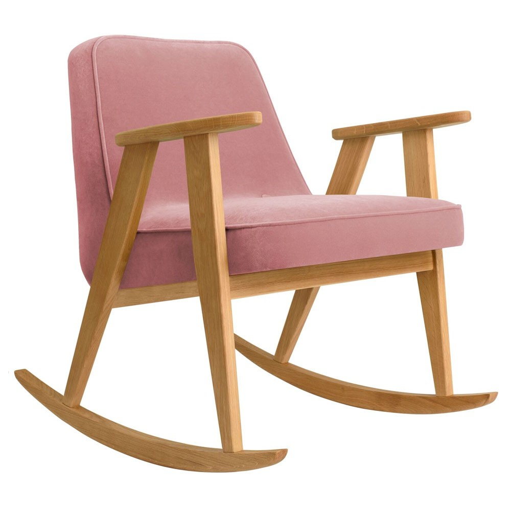 366 rocking chair Velvet powder pink 366 Concept