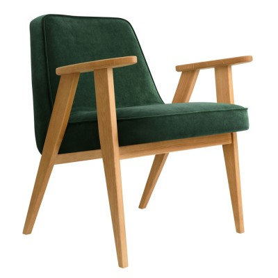 366 Velvet armchair bottle green 366 Concept