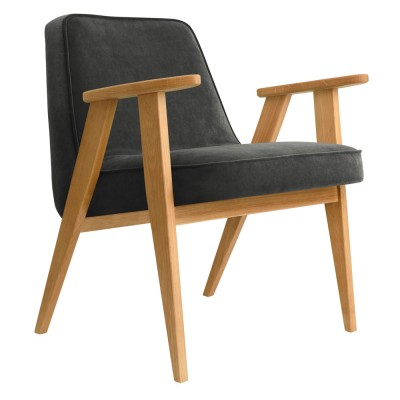 366 fauteuil Grafiet fluweel 366 Concept