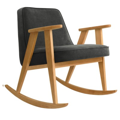 366 rocking chair Velvet graphite 366 Concept