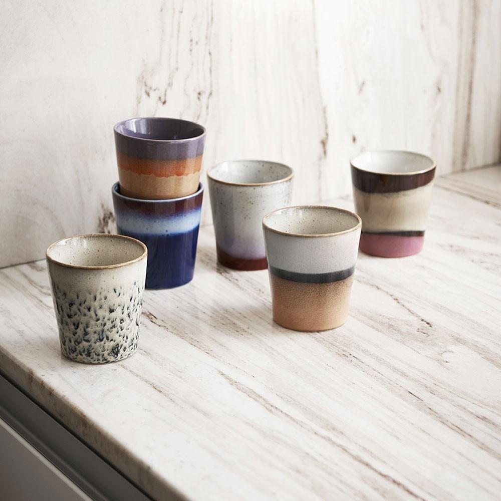 Ceramic 70's mugs frost HKliving