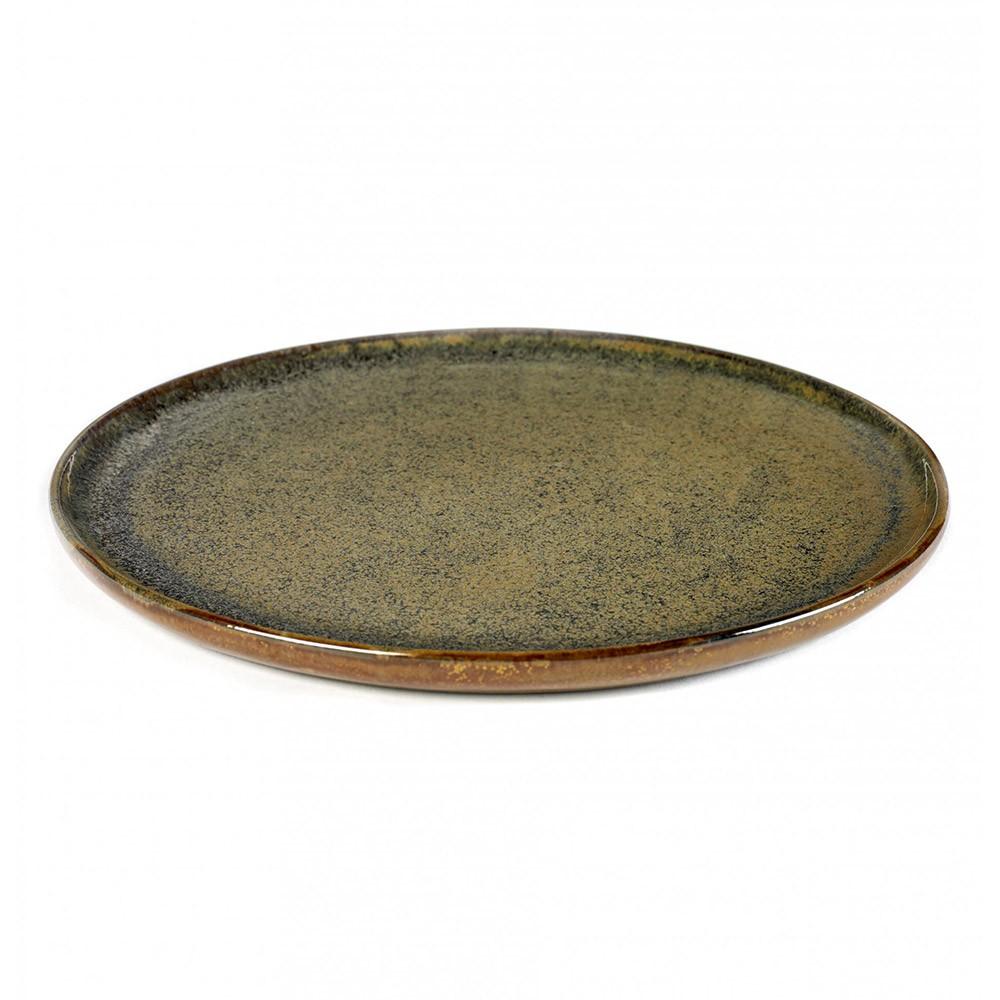 Surface plate L indi grey Ø27 cm Serax