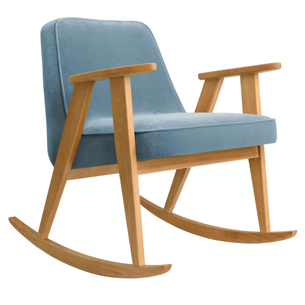 366 rocking chair Velvet sky blue 366 Concept