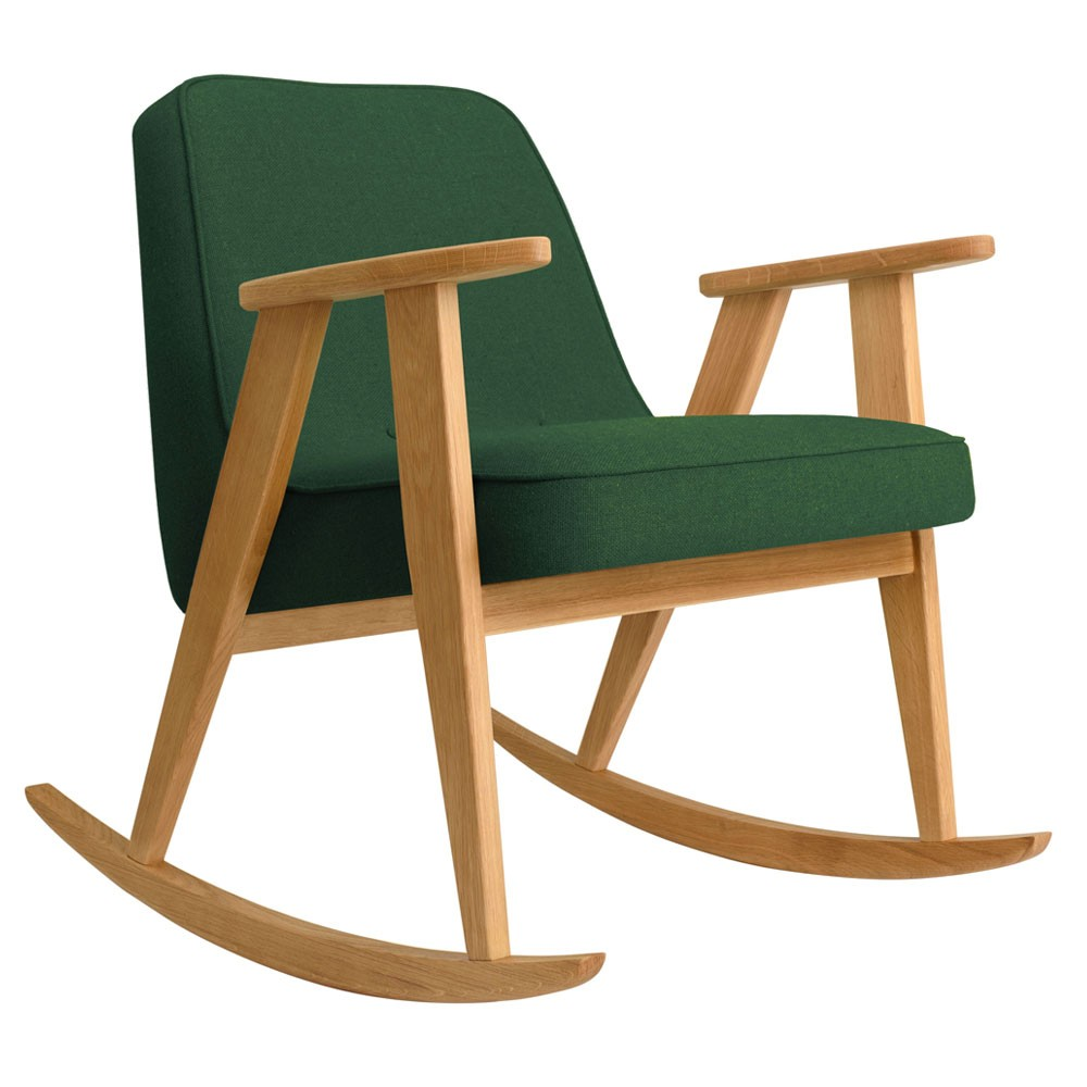 366 rocking chair Wool bottle green 366 Concept