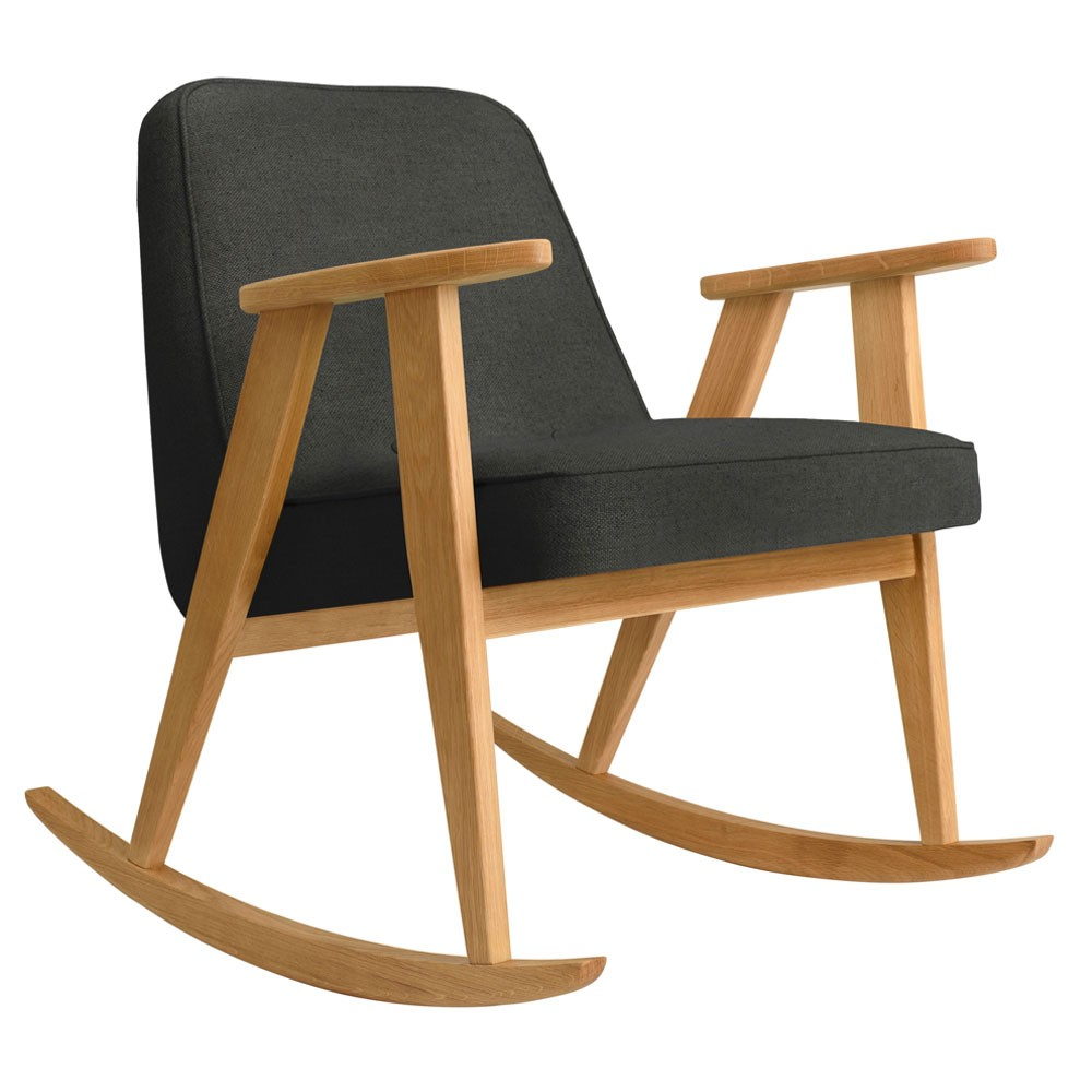366 rocking chair Wool grey & black 366 Concept