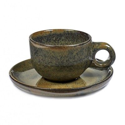 Lungo Surface cup with under plate indi grey Serax