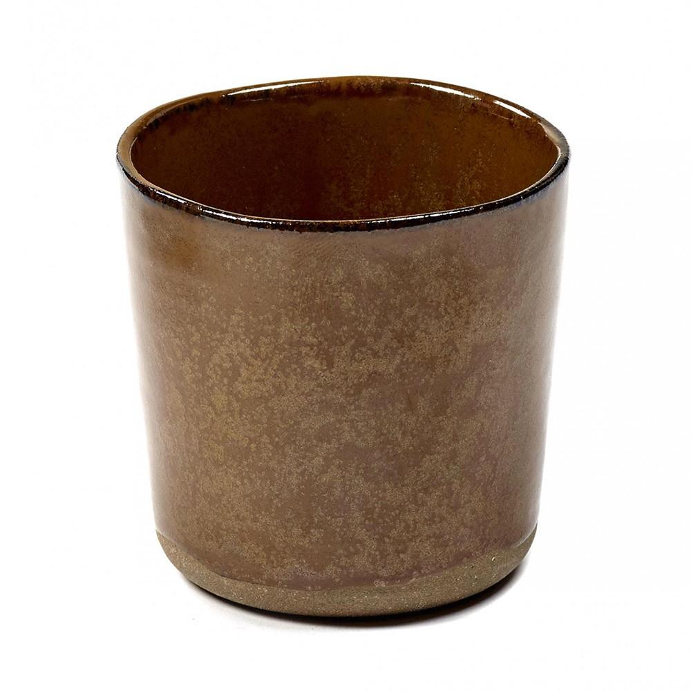 Cup Merci n°9 ochre brown Serax