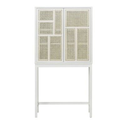 Air cabinet white & cane Design House Stockholm