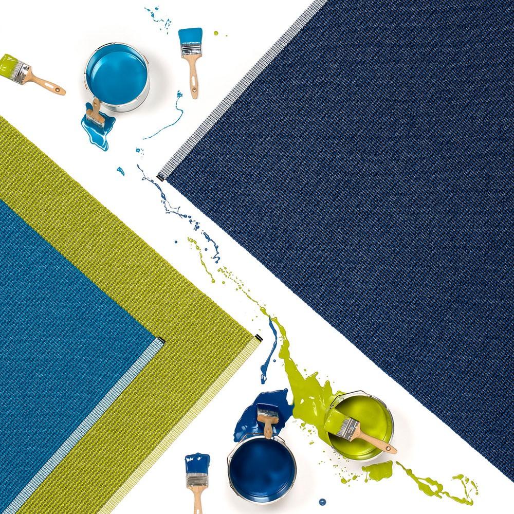 Mono rug dark blue Pappelina