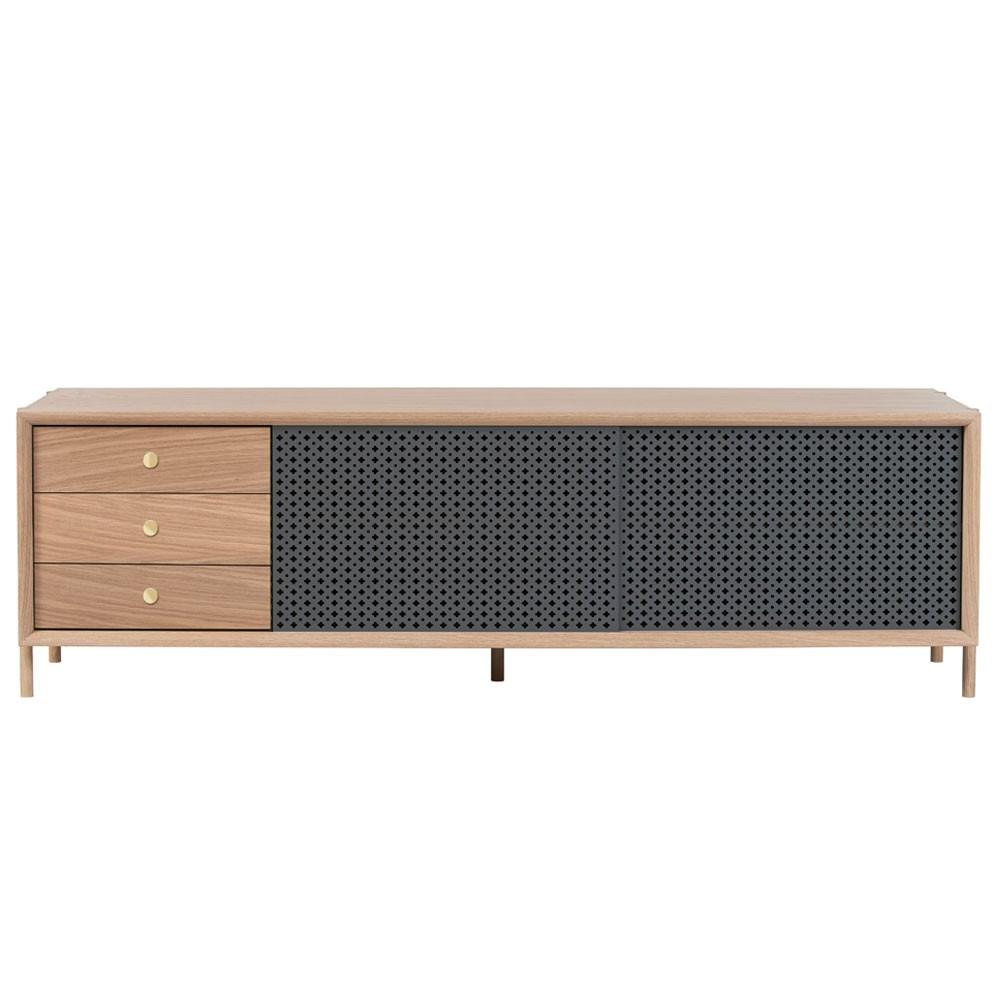 Gabin sideboard 162cm oak with drawer slate grey Hartô