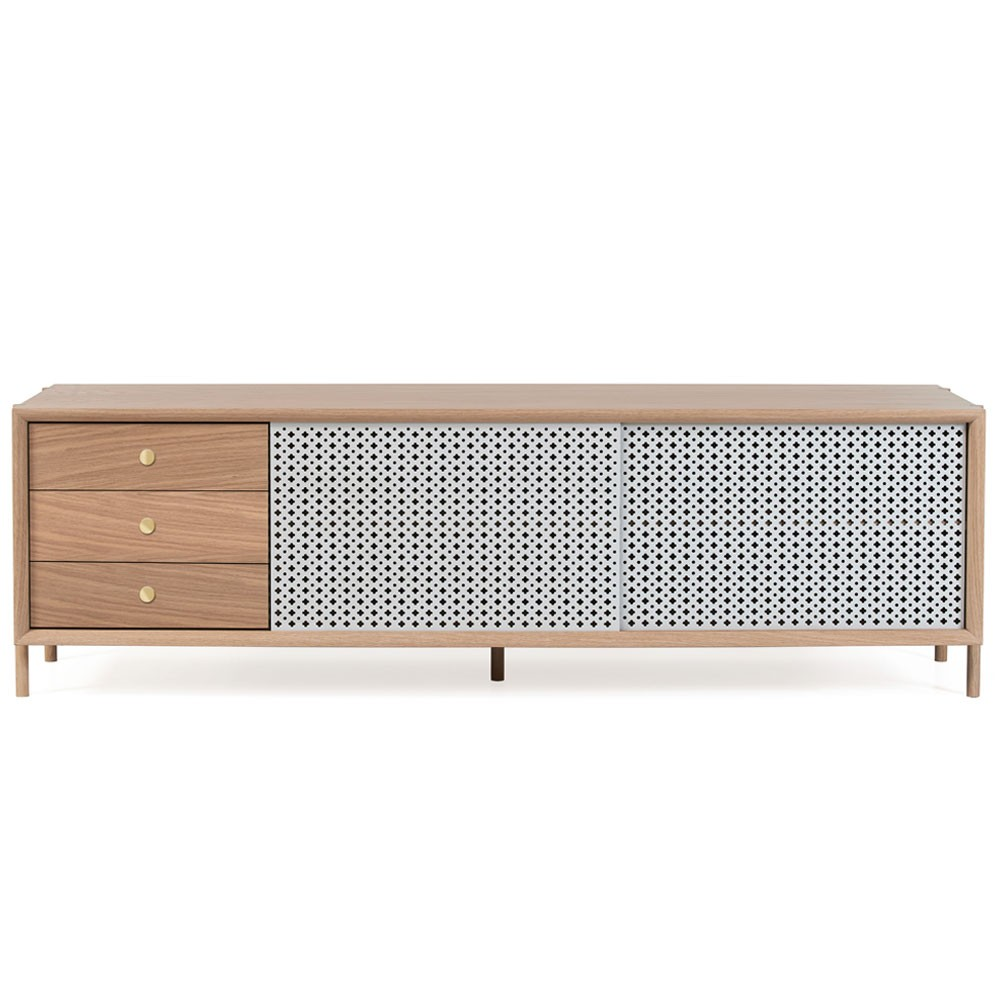 Gabin sideboard 162cm oak with drawer light grey Hartô