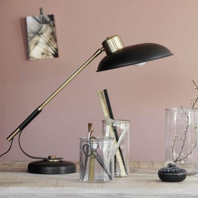 Lampada Da Tavolo Art Deco Nera House Doctor