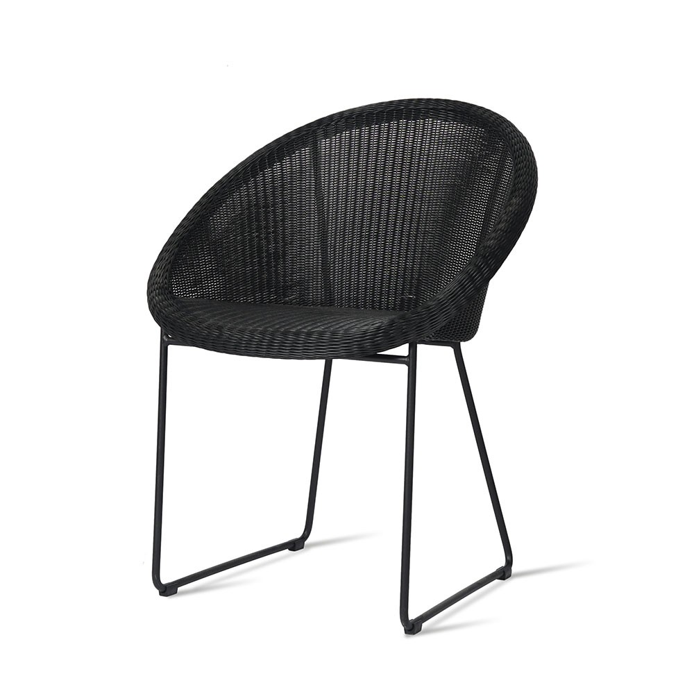 Gipsy dining chair sled base Vincent Sheppard