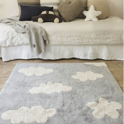 Washable Rug clouds grey Lorena Canals