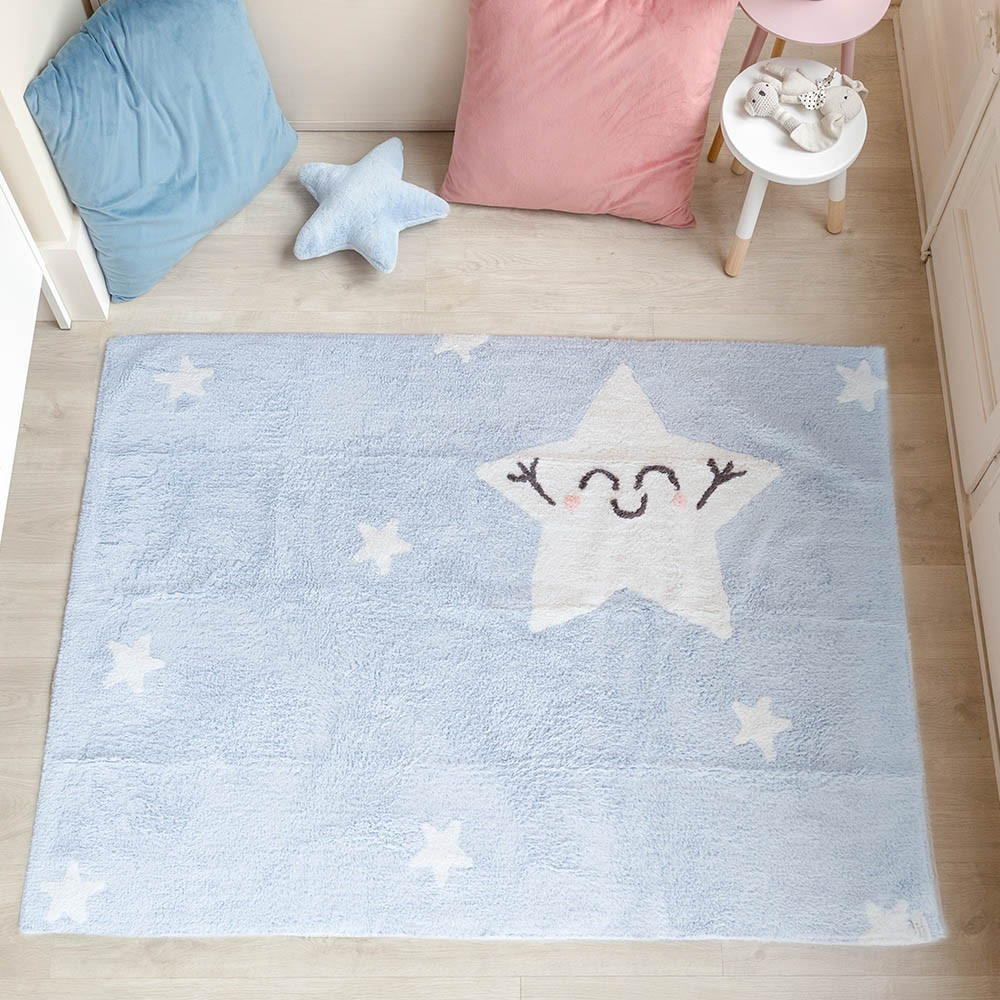 Washable rug Happy Star rectangular Lorena Canals