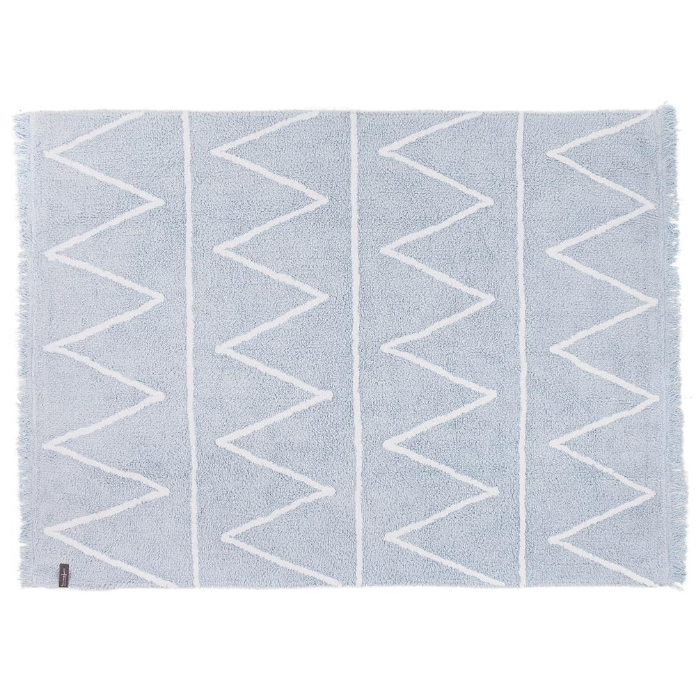 Washable rug Hippy soft blue Lorena Canals