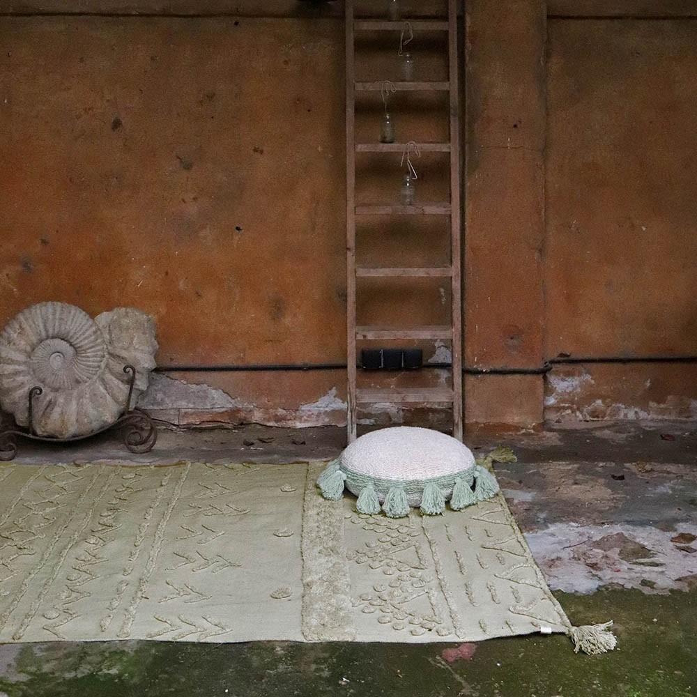 Washable rug Tribu olive S Lorena Canals