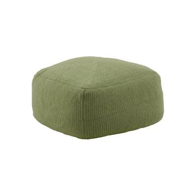 Divine footstool olive green