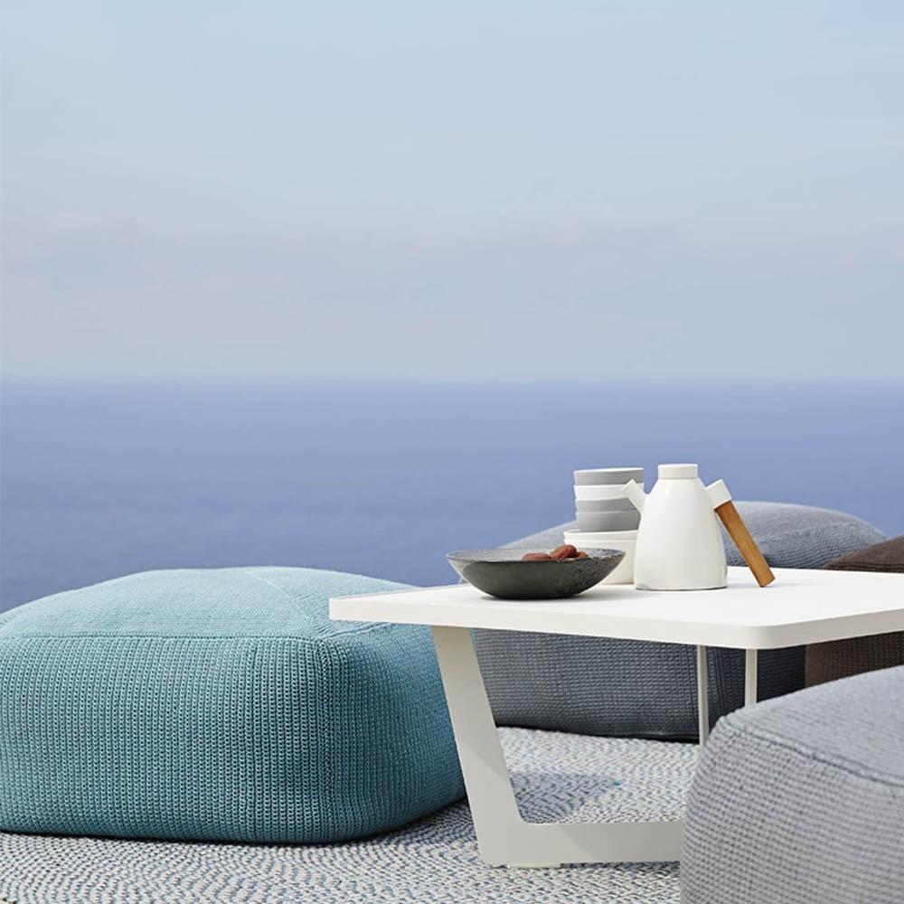 Divine footstool turquoise