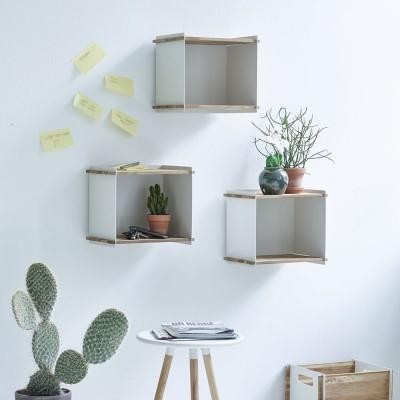 Wall-mounted storage box white