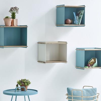 Box storage box blue aqua