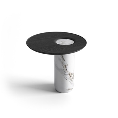 Side table Lago white marble