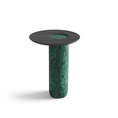 Tall side table Lago green marble