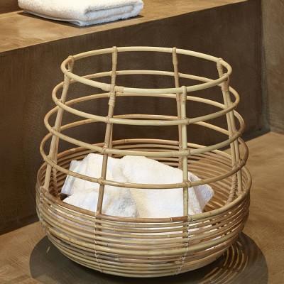 Sweep rattan Basket round