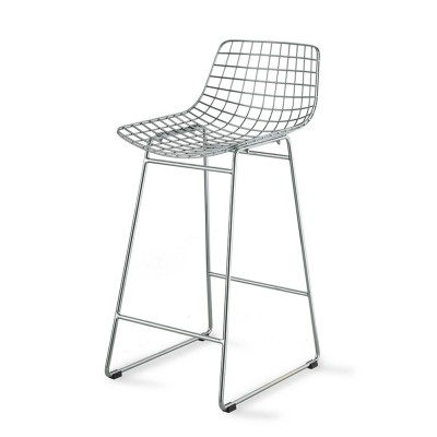 Metal Wire bar stool chrome HKliving