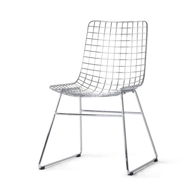 Metal Wire chair chrome HKliving