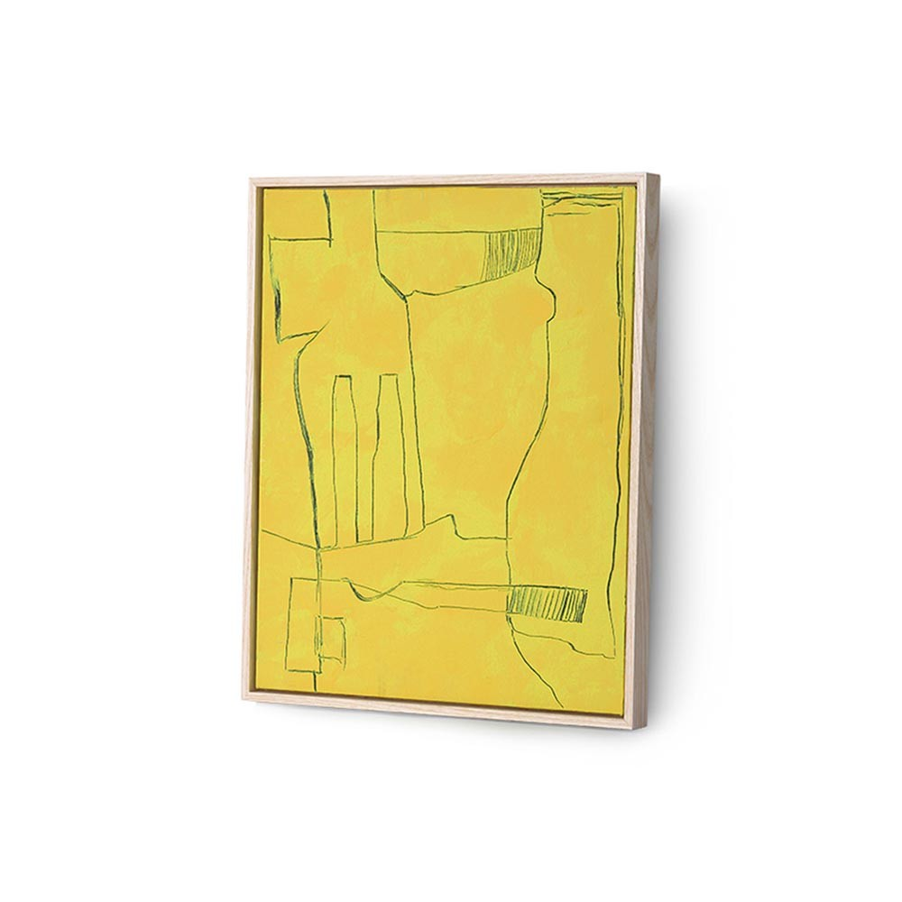 Wall decoration Brutalism yellow 40x50cm HKliving