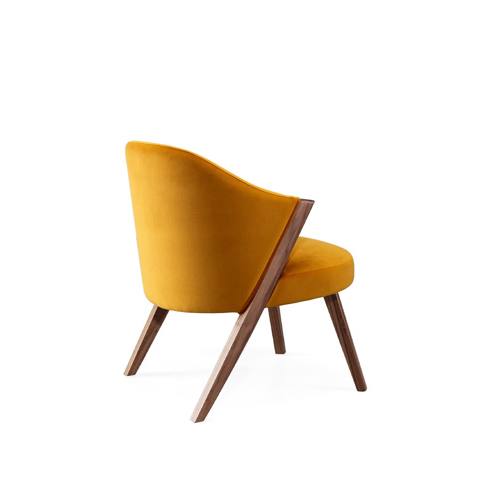 Caravela lounge chair walnut yellow Wewood