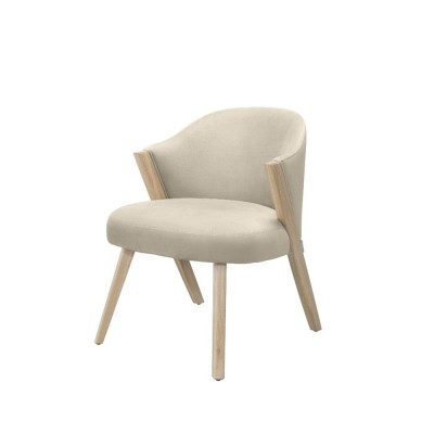 Caravela lounge chair oak cream Wewood